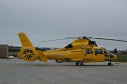 Un hélico NHV prêt pour une mission de sauvetage en mer...